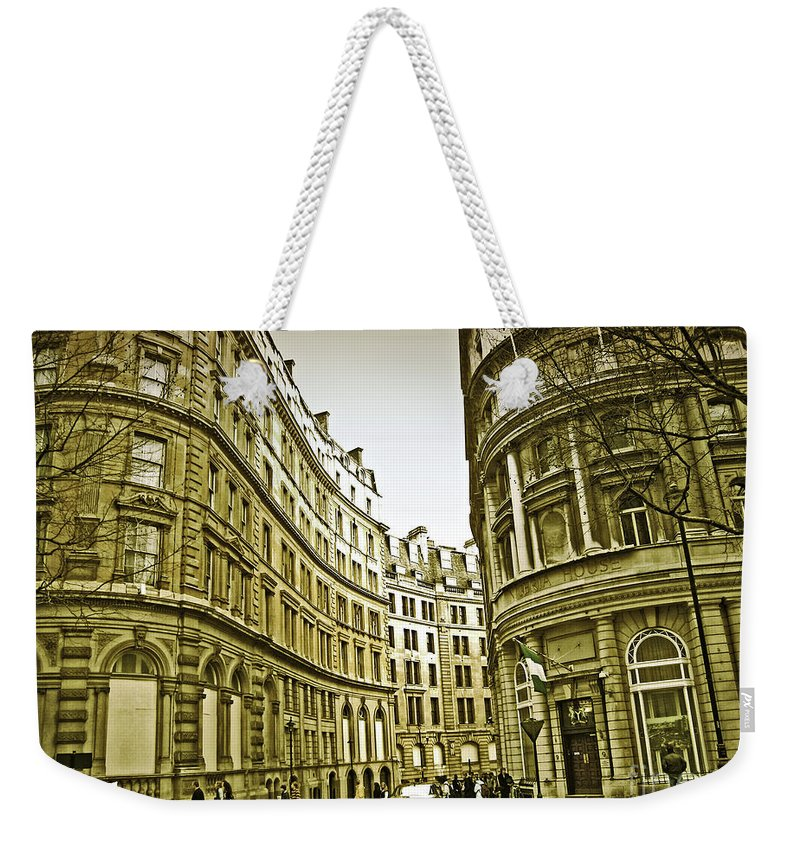 London Weekender Tote Bag featuring the photograph A Day In London by Madeline Ellis