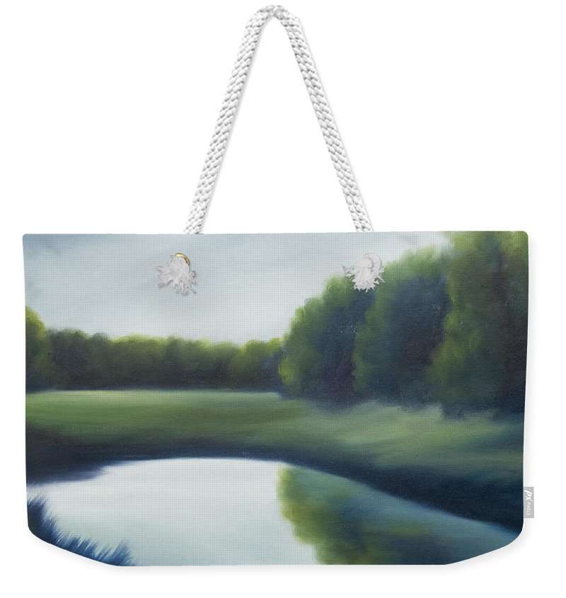 Clouds Weekender Tote Bag featuring the painting A Day In The Life 2 by James Christopher Hill