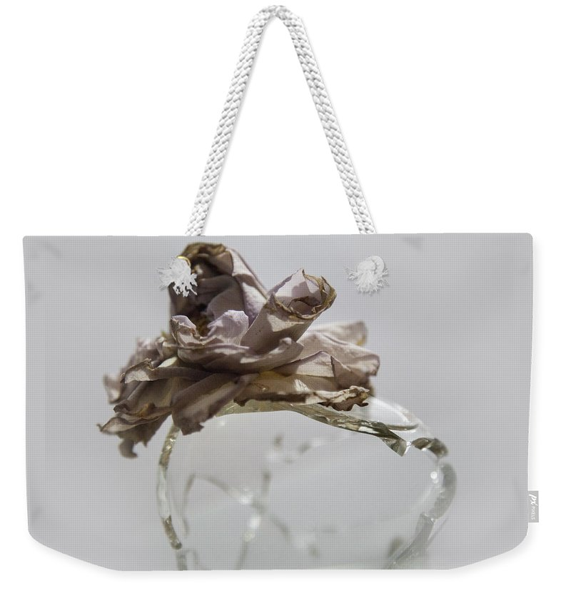 Weekender Tote Bag featuring the photograph A Delicate Dance by Holly Bell