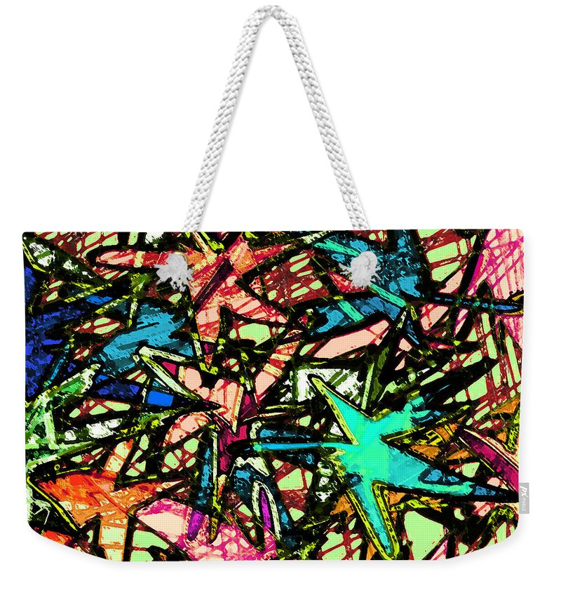 Abstract Weekender Tote Bag featuring the digital art A Dream Shattered by Rachel Christine Nowicki