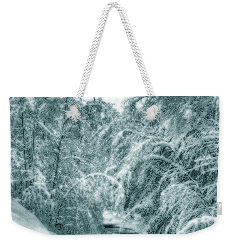 Horse Weekender Tote Bag featuring the photograph A Drink From Halls Brook by Wayne King