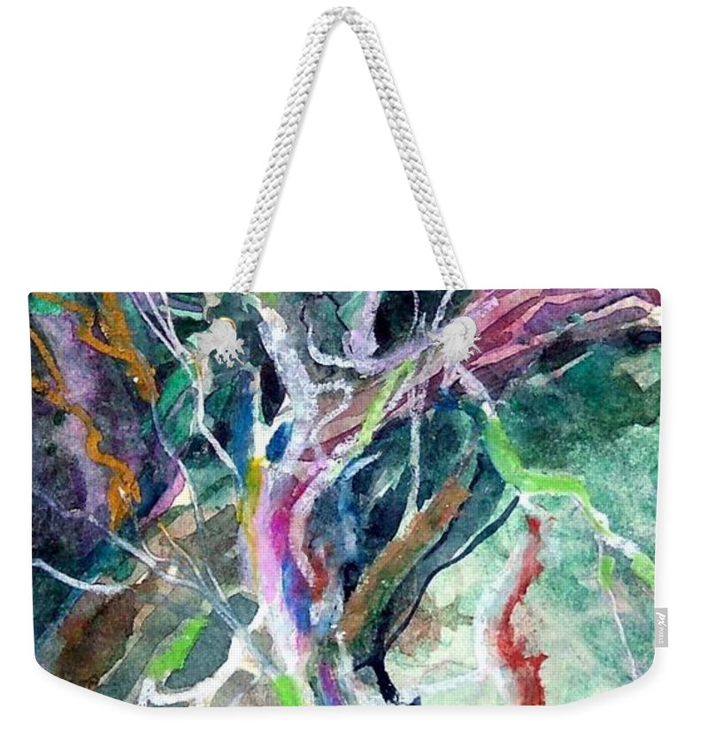 Tree Weekender Tote Bag featuring the painting A Dying Tree by Mindy Newman