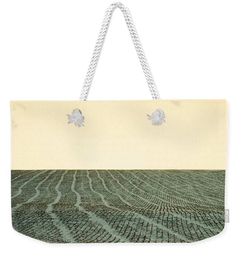 Fallow Weekender Tote Bag featuring the photograph A Field Stitched by Todd Klassy