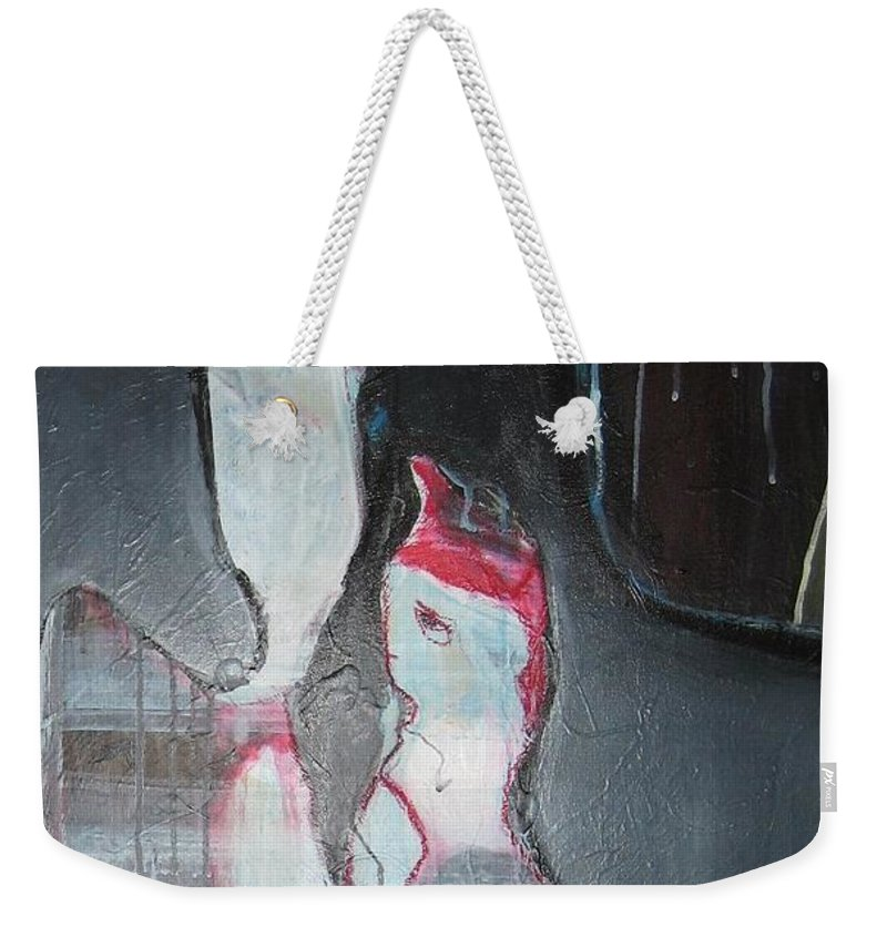 Abstract Paintings Weekender Tote Bag featuring the painting A Flase Rumor by Seon-Jeong Kim