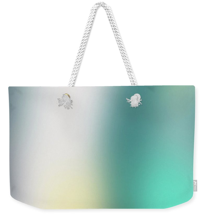 Abstract Weekender Tote Bag featuring the mixed media A Fleeting Glimpse 2- Art By Linda Woods by Linda Woods