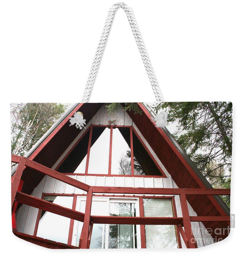 Weekender Tote Bag featuring the photograph A-frame by Jamie Lynn