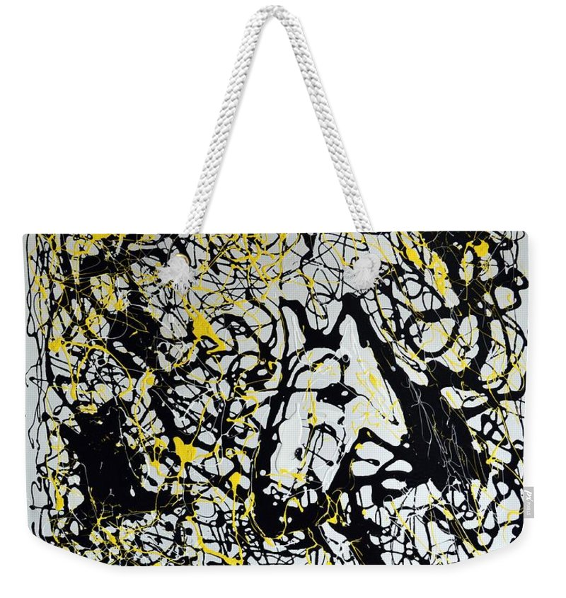 Abstract Weekender Tote Bag featuring the painting A Friendly Face by J R Seymour