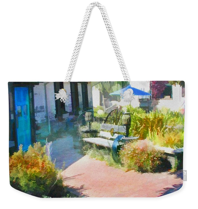 Garden Weekender Tote Bag featuring the painting A Garden In Harmony by Elaine Plesser