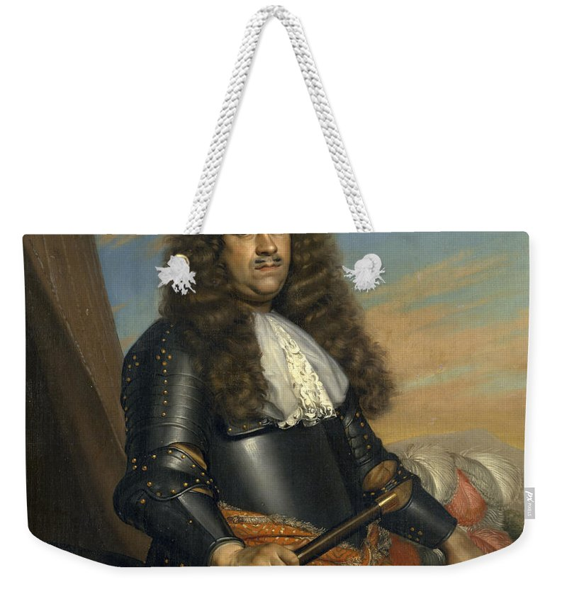 Adriaen Backer Weekender Tote Bag featuring the painting A General by Adriaen Backer