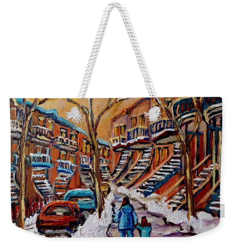 Montreal Weekender Tote Bag featuring the painting A Glorious Day by Carole Spandau