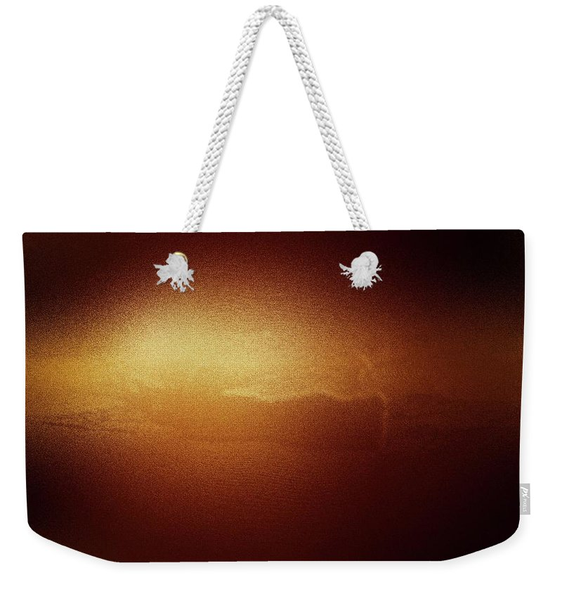 The Sun Weekender Tote Bag featuring the photograph A Glow Of Sunrise by Jeff Swan