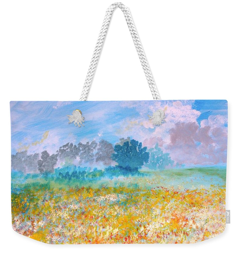 New Artist Weekender Tote Bag featuring the painting A Golden Afternoon by J Bauer