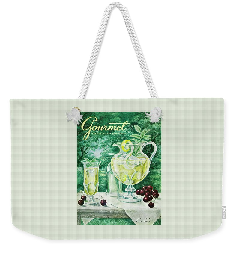 Food Weekender Tote Bag featuring the photograph A Gourmet Cover Of Glassware by Hilary Knight