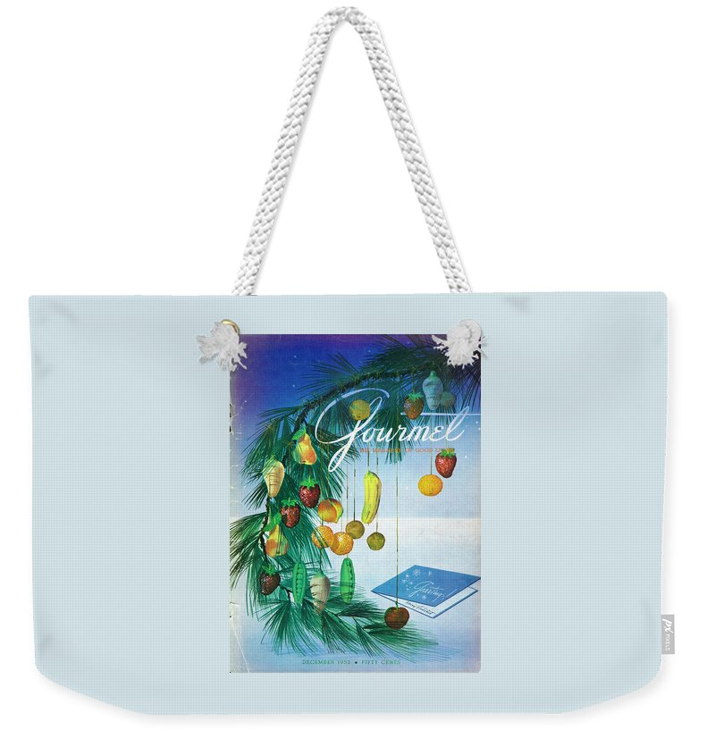 Food Weekender Tote Bag featuring the photograph A Gourmet Cover Of Marzipan Fruit by Henry Stahlhut