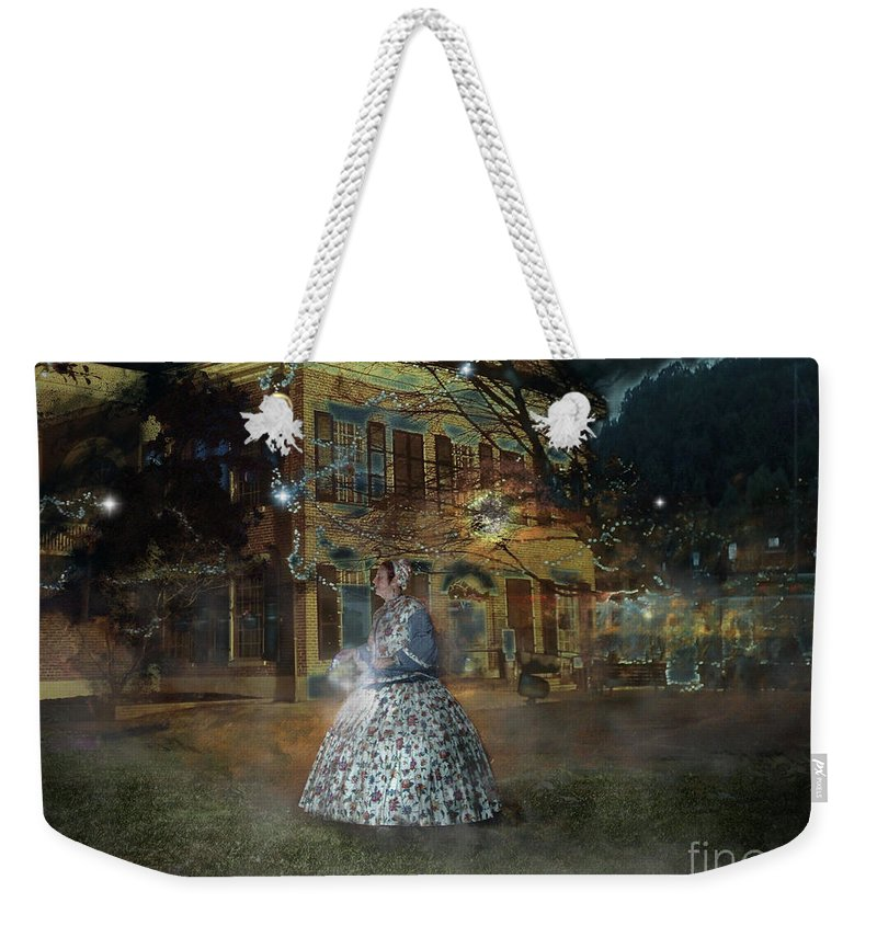 Dahlonega Weekender Tote Bag featuring the photograph A Haunted Story In Dahlonega by Nicole Angell