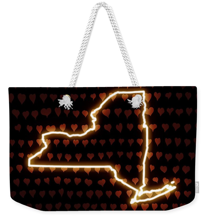 Heart Weekender Tote Bag featuring the digital art A Heart In New York by Carlos Vieira