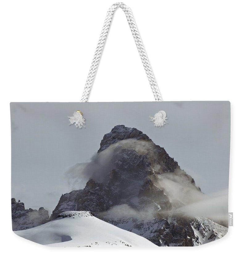 Landscape Weekender Tote Bag featuring the photograph A Heavenly Wisp by DeeLon Merritt
