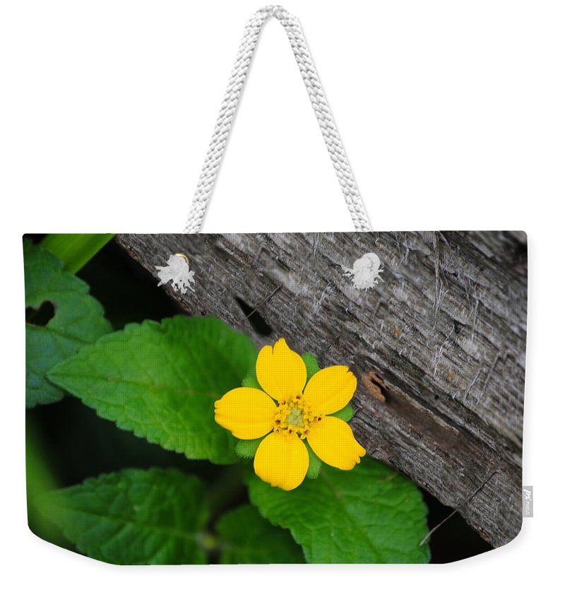 Yellow Weekender Tote Bag featuring the photograph A Hidden Heart by Eric Liller