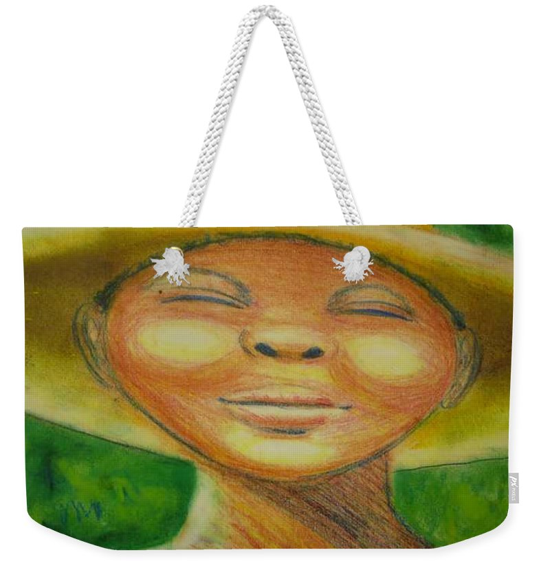 Drawing Weekender Tote Bag featuring the drawing A Hot Summer Day by Jan Gilmore