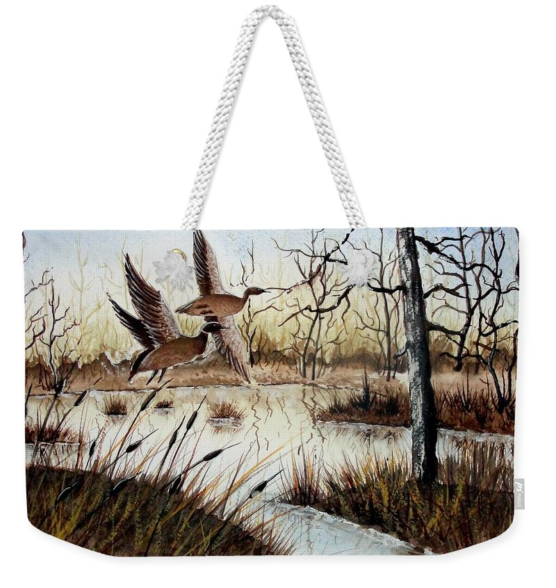 Art Weekender Tote Bag featuring the painting A 'jerry Yarnell' Study by Jimmy Smith