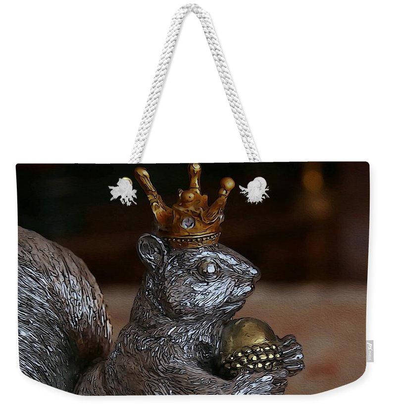 Squirrel Weekender Tote Bag featuring the photograph A King For A Day by Yvonne Wright
