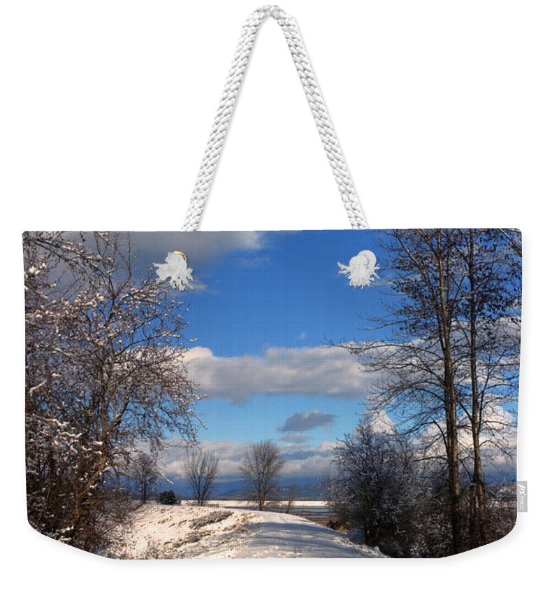 Landscape Weekender Tote Bag featuring the photograph A Kootenai Wildlife Refuge Winter by Lee Santa