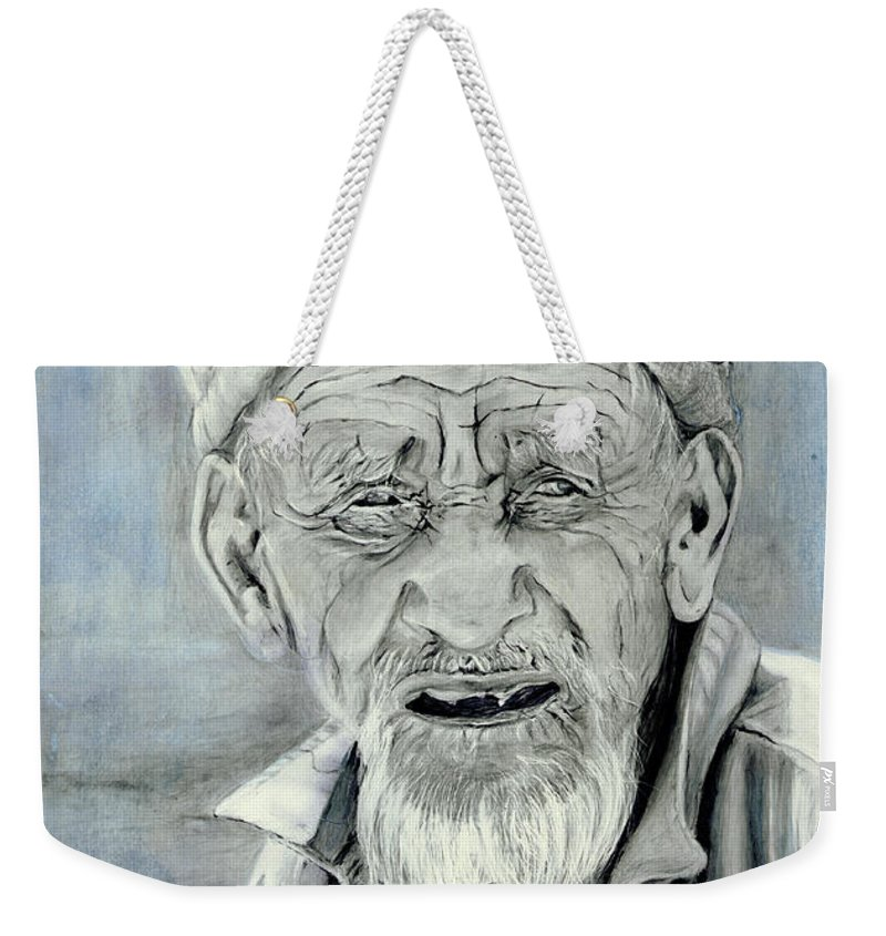 Figurative Art Weekender Tote Bag featuring the painting A Life Time by Portraits By NC