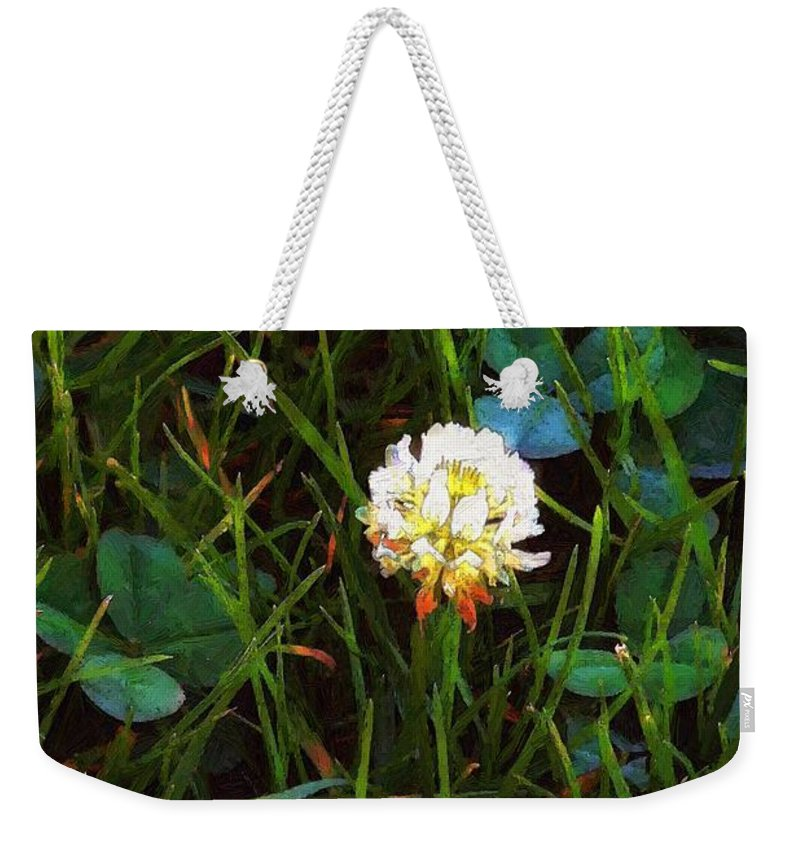 Clover Weekender Tote Bag featuring the painting A Little Bit Of Luck by RC DeWinter