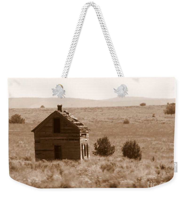 Old Shack Weekender Tote Bag featuring the photograph A Little Isolated by Carol Groenen