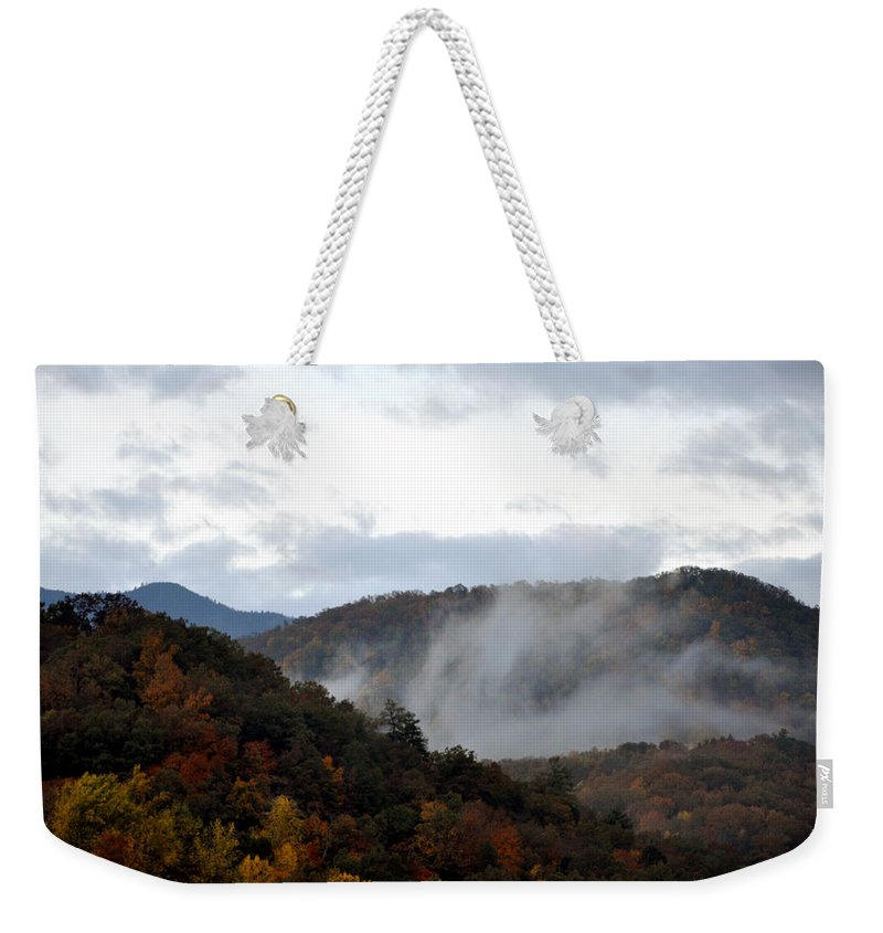 Smokey Mountain Weekender Tote Bag featuring the photograph A Little Smoky by Brittany Horton