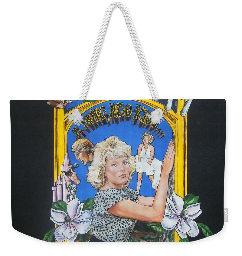 Unicorn Weekender Tote Bag featuring the painting A Long Ago Kiss by Bryan Bustard
