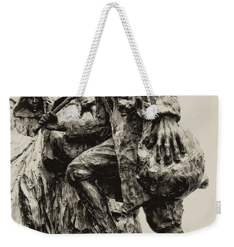 Philadelphia Weekender Tote Bag featuring the photograph A Long Way To The Top by Bill Cannon