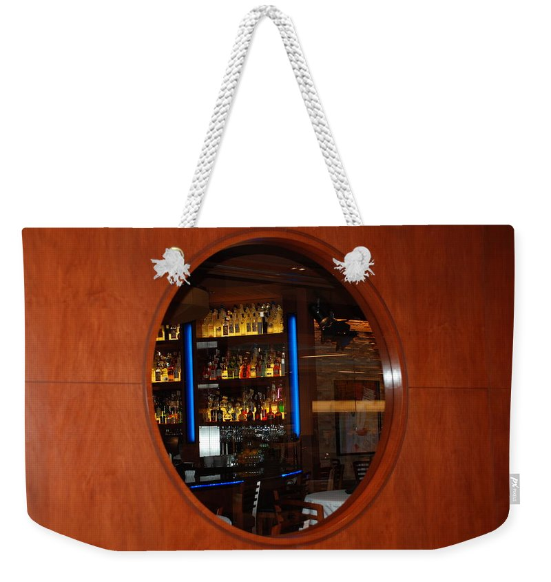 Architecture Weekender Tote Bag featuring the photograph A Look Thru The Fishbowl by Rob Hans