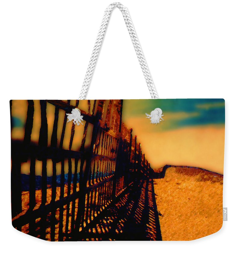 Fence Weekender Tote Bag featuring the photograph A Mammoth Fence by Paul Wear