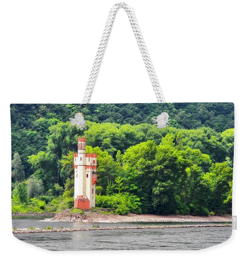 Medieval Building Weekender Tote Bag featuring the photograph A Medieval Castle on the Rhine by Kirsten Giving