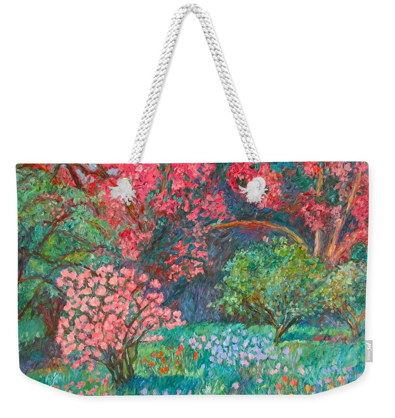 Landscape Weekender Tote Bag featuring the painting A Memory by Kendall Kessler