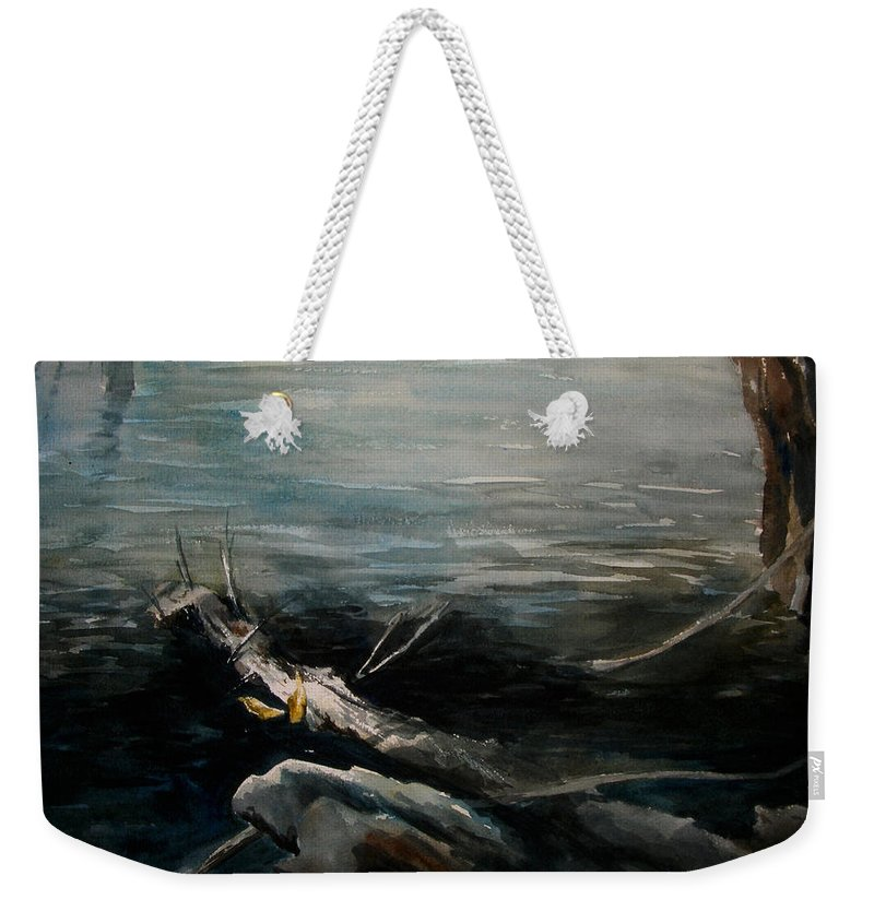 Landscape Weekender Tote Bag featuring the painting A Moment In Time by Rachel Christine Nowicki