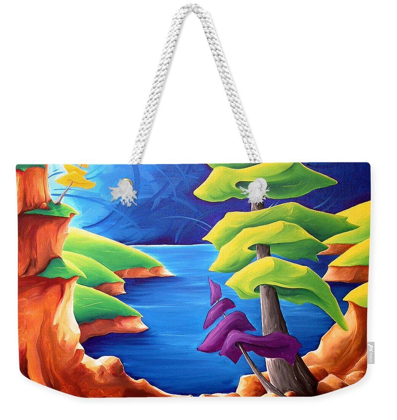 Landscape Weekender Tote Bag featuring the painting A Moment In Time by Richard Hoedl