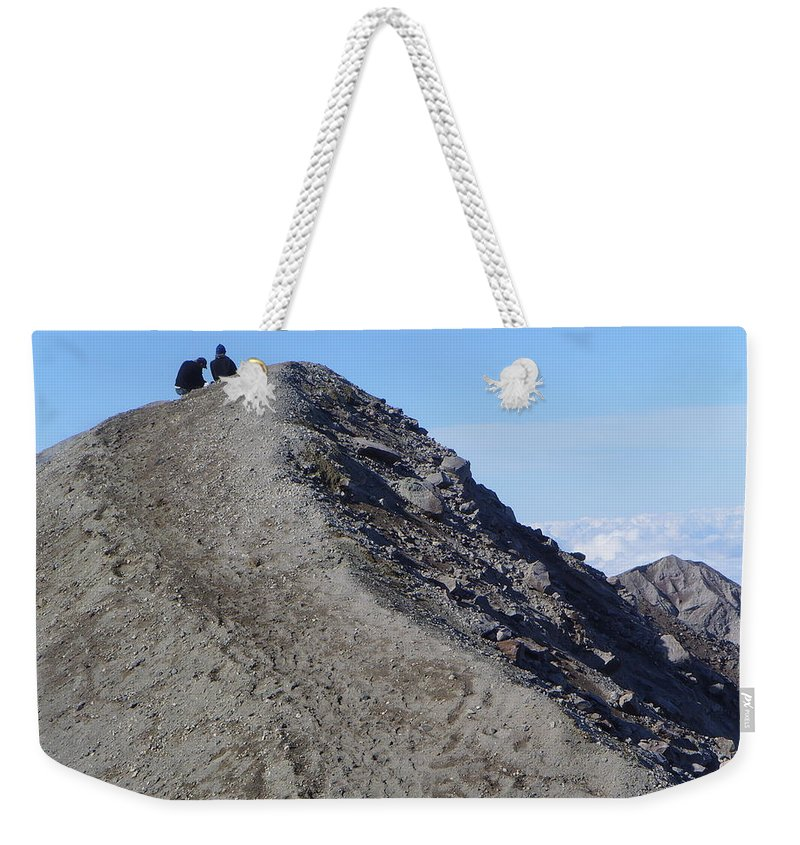 Mt St Helens Weekender Tote Bag featuring the A Moment Together by Jeff Swan