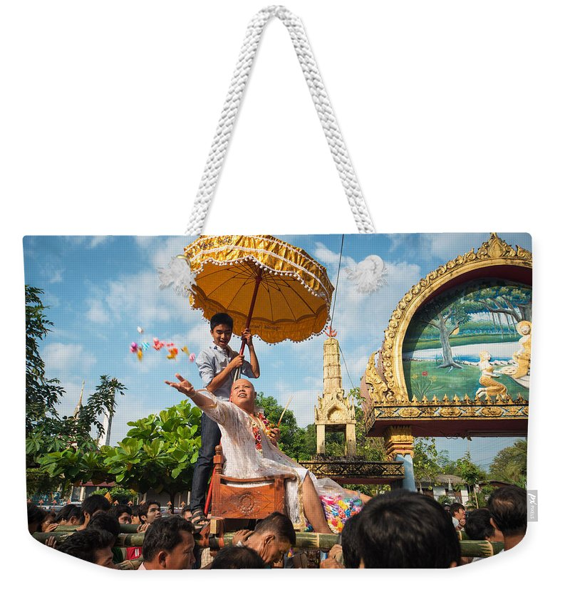 Thailand Weekender Tote Bag featuring the photograph A Monk Ordination Festival by Lee Craker