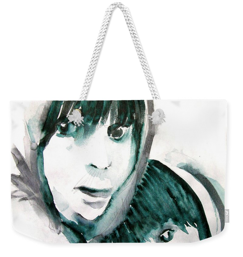 Mother And Daughter Weekender Tote Bag featuring the painting A Mother's Love by Seth Weaver