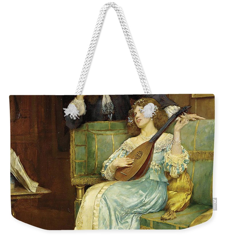 William Arthur Breakspeare Weekender Tote Bag featuring the painting A Musical Interlude by William Arthur Breakspeare