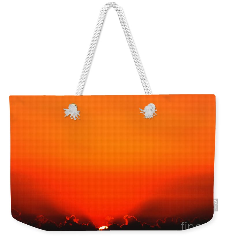Sun Weekender Tote Bag featuring the photograph A New Day by Amanda Barcon