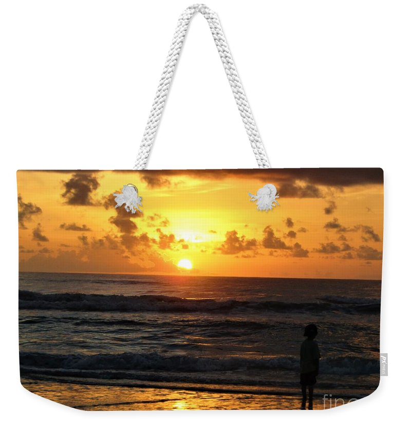 Sunrise On The Beach Weekender Tote Bag featuring the photograph A New Day by Judy Bugg Malinowski