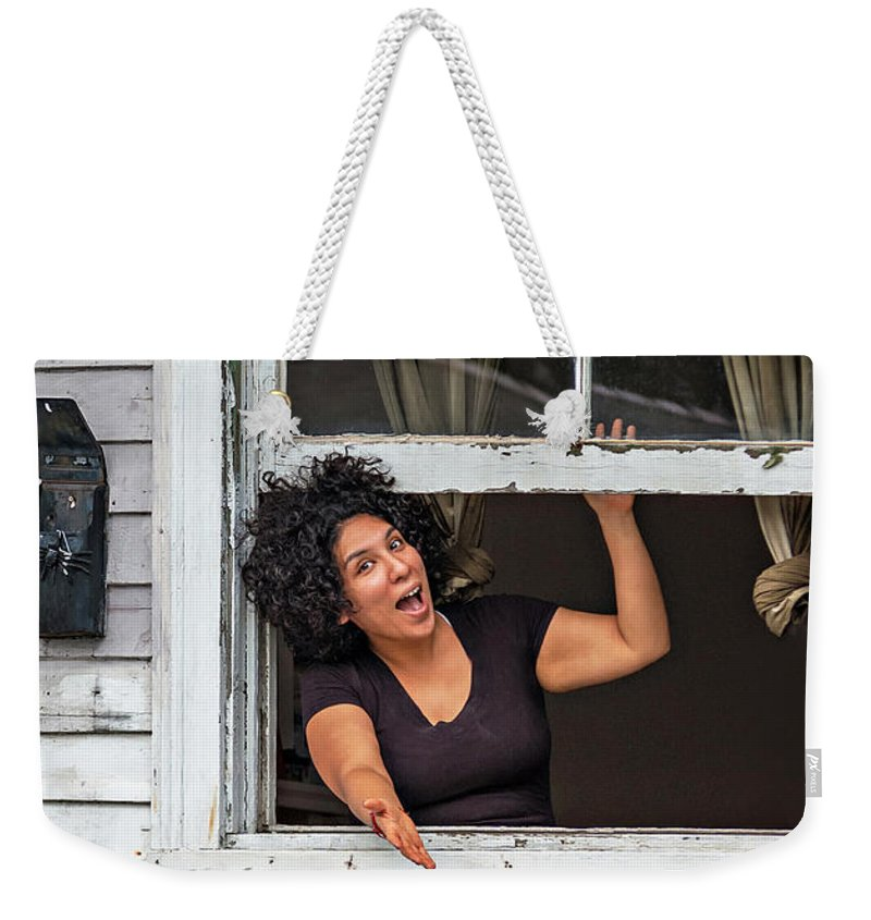 New Orleans Weekender Tote Bag featuring the photograph A New Orleans Greeting by Steve Harrington