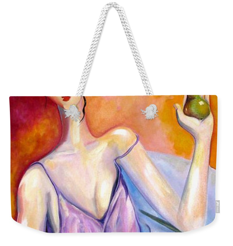Figure Weekender Tote Bag featuring the painting A New Pair by Heather Roddy