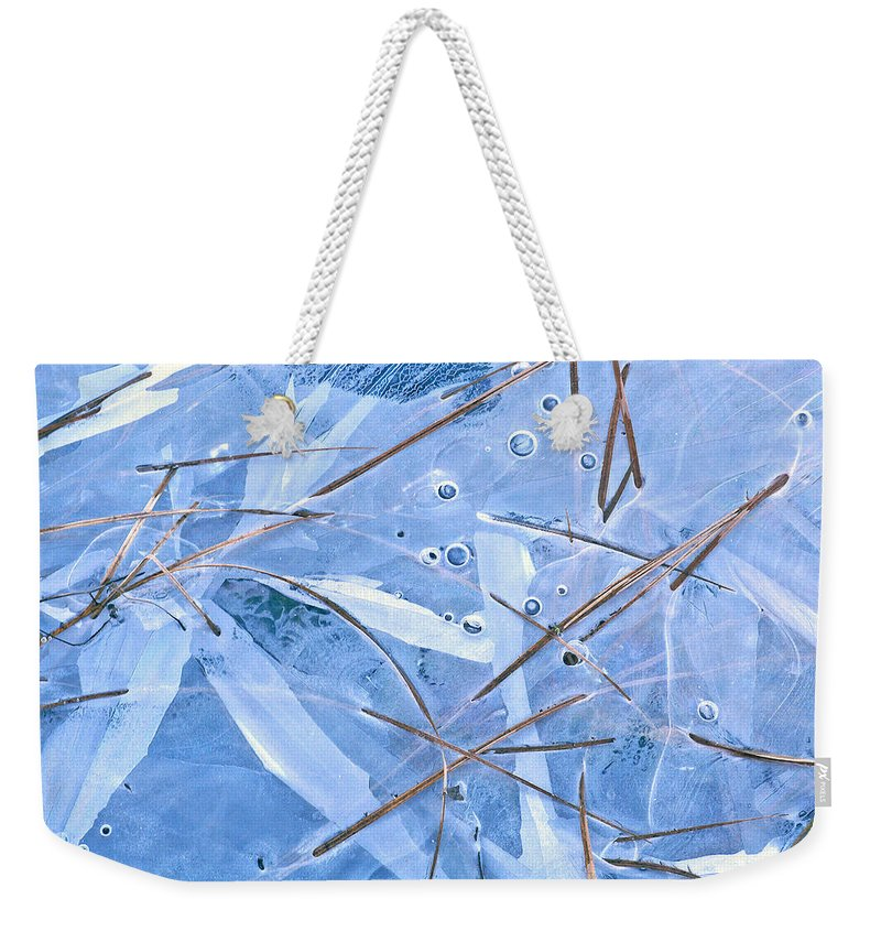 Ice Weekender Tote Bag featuring the photograph A New Reality by Bill Morgenstern
