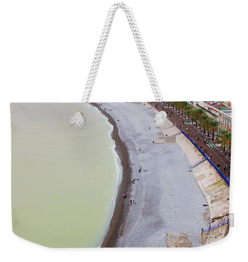 Opera Plage Weekender Tote Bag featuring the photograph A Nice Beach by Nicola Nobile