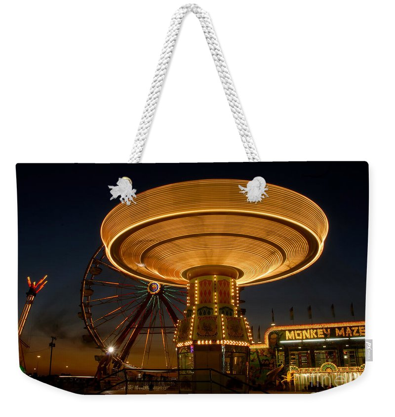 Fair Weekender Tote Bag featuring the photograph A Night At The Fair by David Lee Thompson