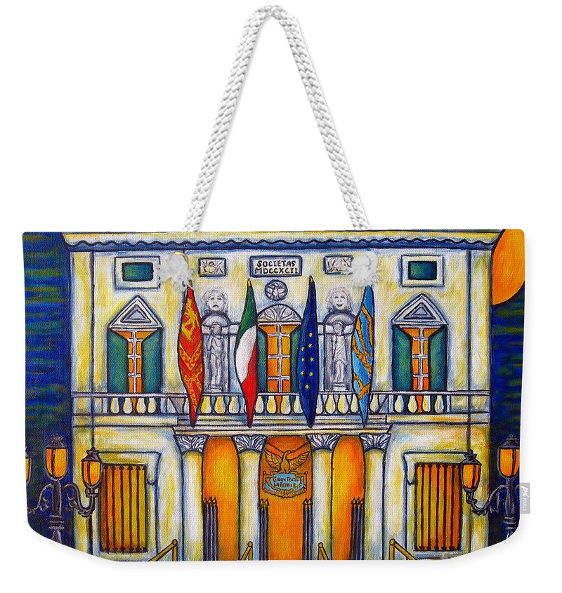 Theatre Weekender Tote Bag featuring the painting A Night at the Fenice by Lisa Lorenz
